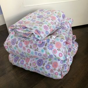 Flannel Floral Full/Double Sheet Set